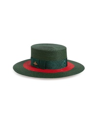 Gucci Alba Woven Straw Hat