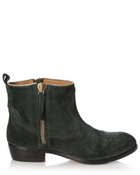 Golden Goose Deluxe Brand Anouk Western Distressed Suede Ankle Boots
