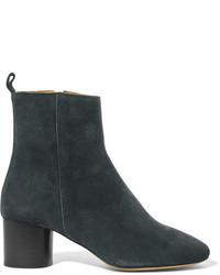 Etoile Isabel Marant Isabel Marant Toile Deyissa Suede Ankle Boots Petrol