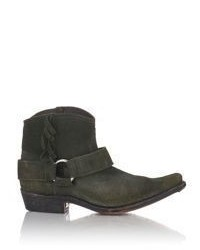 Golden Goose Deluxe Brand Golden Goose Distressed Rennie Fringe Ankle Boots Green