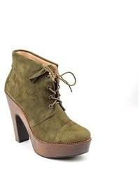 Madison Harding Bateman Green Suede Fashion Ankle Boots