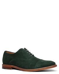 Dark Green Suede Oxford Shoes