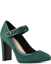 Women s Dark Green Pumps by Nine West   Women s Fashion   Lookastic.com ee42796b1a