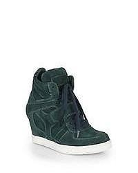 c2cc70f2c3ec ... Ash Cool Suede Wedge Sneakers Navy