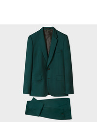 Paul Smith The Soho Tailored Fit Dark Green Wool Suit To Travel In