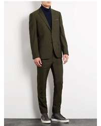Topman Dark Green Tonic Skinny Suit Jacket | Where to buy &amp how to