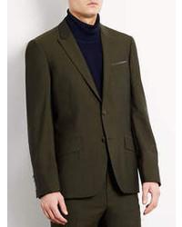 Topman Dark Green Tonic Skinny Suit Jacket