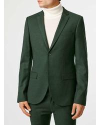 Topman Dark Green Ultra Skinny Fit Suit Jacket