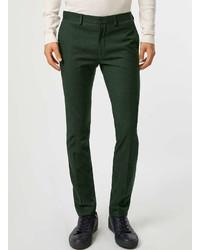 Topman Dark Green Ultra Skinny Fit Suit Pants