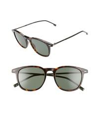 BOSS 51mm Polarized Gradient Round Sunglasses