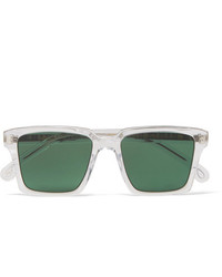 Paul Smith Austin Square Frame Acetate And Silver Tone Sunglasses