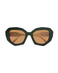 Marni Cat Eye Two Tone Acetate Sunglasses