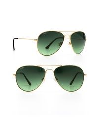 DIFF Cruz 43mm Aviator Sunglasses