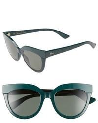 Christian Dior Dior Soft 1 51mm Cat Eye Sunglasses Blue