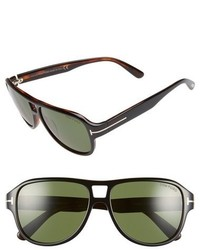 Tom Ford Dylan 57mm Sunglasses Grey Smoke