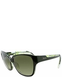 Emilio Pucci Ep 686s 303 Dark Green Rectangle Sunglasses
