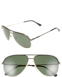 Tom Ford Erin 61mm Aviator Sunglasses Dark Brown Other Roviex