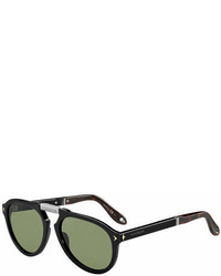 Givenchy Foldable Aviator Sunglasses Black