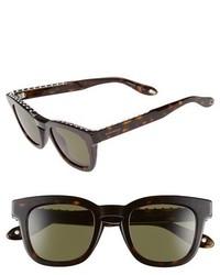 Givenchy 48mm Sunglasses Black Black Mirror