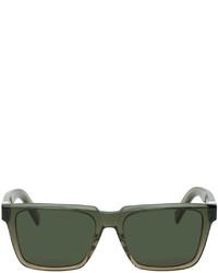Kenzo Khaki K Logo Rectangular Sunglasses
