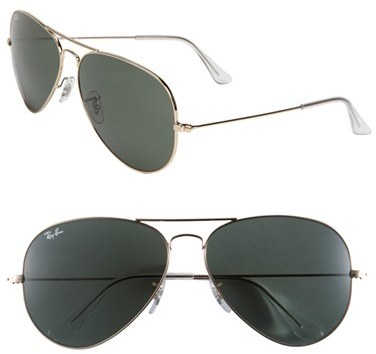 white and gold ray bans