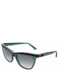 Swarovski Sk0075s 96p Transparent Dark Green Butterfly Sunglasses