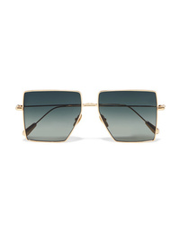 Kaleos Stamper D Frame Gold Tone Sunglasses