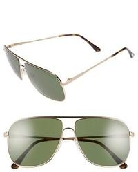 Tom Ford Dominic 60mm Aviator Sunglasses Dark Brown Gradient Roviex