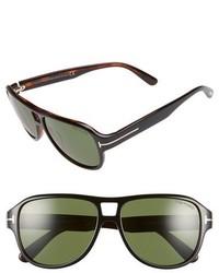 Tom Ford Dylan 57mm Sunglasses Black Green