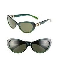 Tory Burch 59mm Cat Eye Sunglasses Green Blue One Size