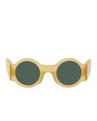 Dries Van Noten Yellow Linda Farrow Edition Round Sunglasses