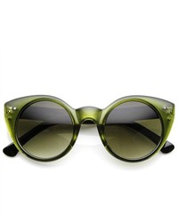 ZeroUV Chic Round Circular Pointed Cat Eye Sunglasses