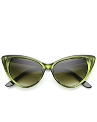 ZeroUV Fashion Mod High Pointed Super Cateye Sunglasses