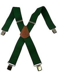 Dark Green Suspenders