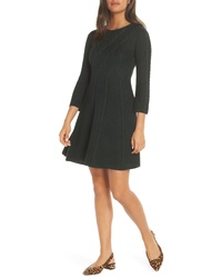 Eliza J Cable Fit Flare Sweater Dress