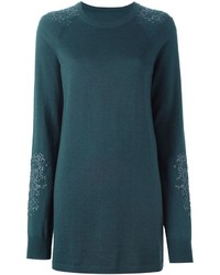 Maison Margiela Embroidered Sweater Dress