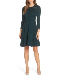 Eliza J Fit Flare Sweater Dress