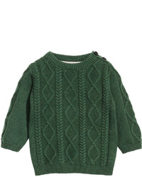 H&M Cable Knit Sweater Dark Green Kids