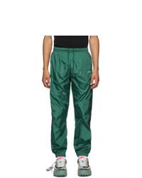 Off-White Green Nylon Diag Track Pants