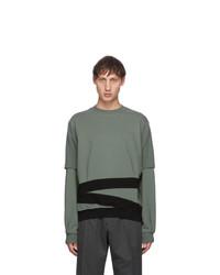 Keenkee Green And Black Sculpture Pt 2 Sweatshirt