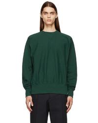 Maison Margiela Green Rib Knit Sweatshirt