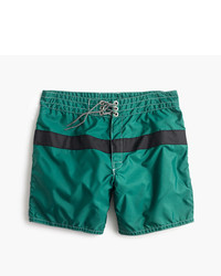Birdwell For Jcrew Board Short In Dark Green