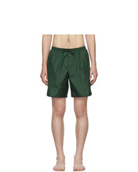 Gucci Green Logo Stripe Swim Shorts