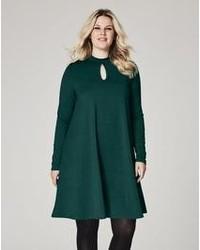 Spot jacquard lace swing dress medium 1201205