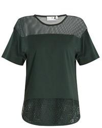 adidas by Stella McCartney Mesh Panelled Cotton T Shirt