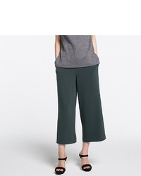 Uniqlo Drape Wide Leg Tapered Ankle Pants