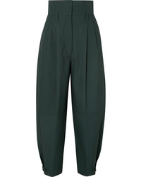 Givenchy Pleated Cotton Tapered Pants
