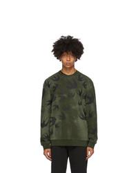 McQ Alexander McQueen Green Swallows Sweatshirt