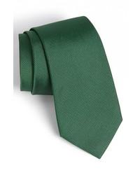 Calibrate woven silk tie green x long medium 389954