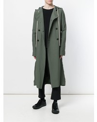 Rick Owens Double Breasted Trench Coat